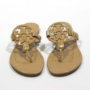 Tory Burch Miller Patent Leather Sandal Flip Flops